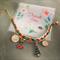 "Christmas Bracelet with letter "" Q ""  ( Green mix Orange )"